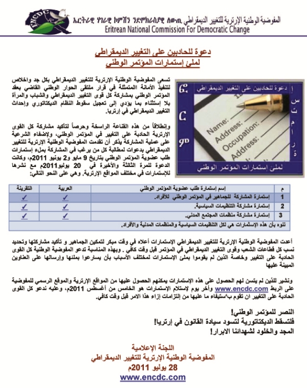 ENCDC -  Invites Everyone To Fill Out Participation Form in the Process of National Congress _Arabic_.jpg
